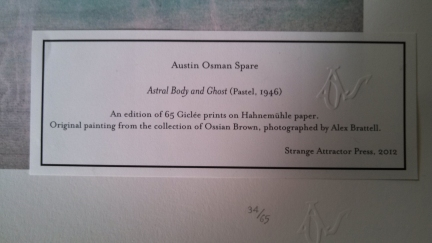 Austin Osman Spare - Astral Body Numbered